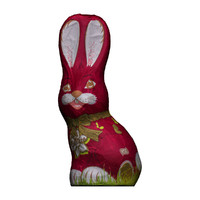 chocolate easter bunny red 3d obj
