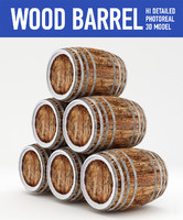 3ds wood barrels