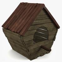3d house birdhouse bird