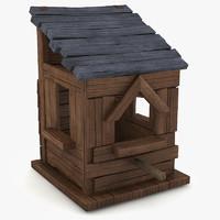 3d model birdhouse 3