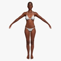 african american woman realistic 3d model