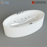 oval bathtube zaphiro max