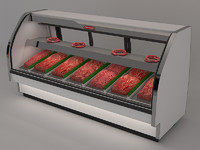 3d model meat counter