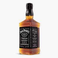 jack daniels bottle 3d max