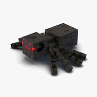 3d model minecraft spider
