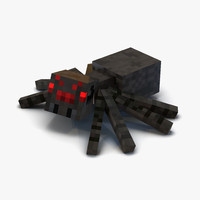 minecraft spider rigged 3d max