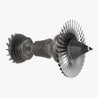 3d model turbine 4