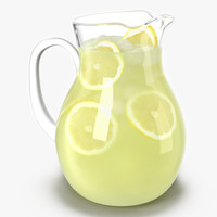 3d c4d lemonade pitcher