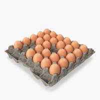 3d model box eggs