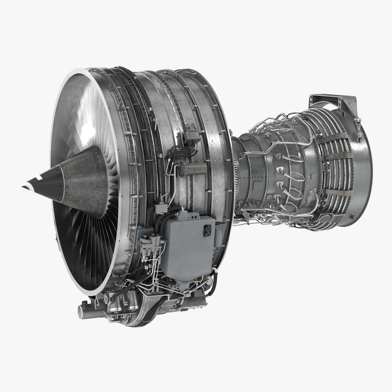 Turbofan Aircraft Engine CFM International CFM56 3d model 01.jpg