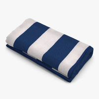 beach towel 3 white 3d max