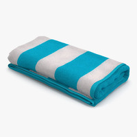 beach towel 3 3d max