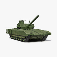 3d tank t-14 armata rigged model