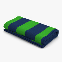 beach towel 3 green max