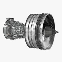 3ds turbofan aircraft engine