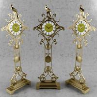 3d model grandfather clock