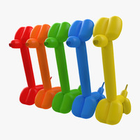 3d balloon giraffes set