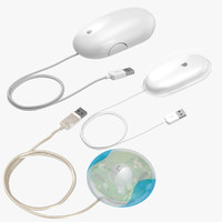 3d model apple mice - mouse