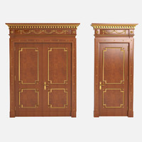 luxury doors 3d obj