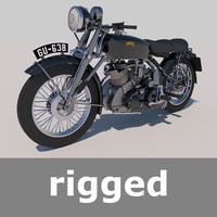 Rigged Vincent Black Shadow 1949