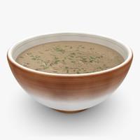 3d realistic soup 03 model