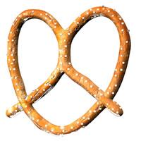 3d delicious pretzel model