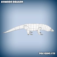 base mesh komodo dragon 3d model