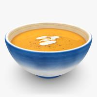 realistic soup 01 3d model