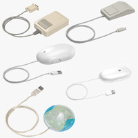 3d obj apple mice mouse