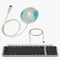 3d apple usb keyboard mouse