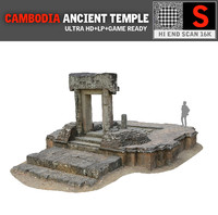 3d model angkor thom temple 16k