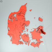 denmark data 3d model