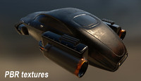 hovercraft hover 3d model