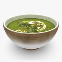 3d model realistic soup 04