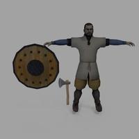 3d model axe man