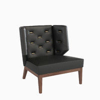 3ds armchair upholstery berchet interior