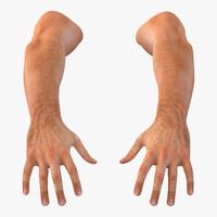 man hands 3d model