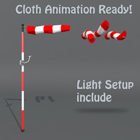 3d wind windsock model