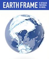3d model water globe