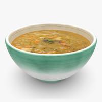 3d realistic soup 05