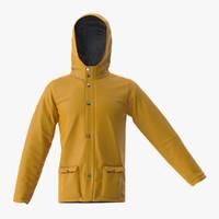 rain jacket 3d max
