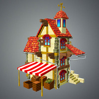 3d model of tavern house games