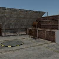 3d garage scene