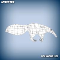 base mesh anteater 3d model