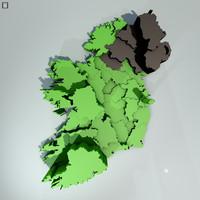 ireland data 3d model