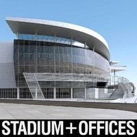 3d model of warriors sports exterior