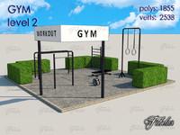 gym level 2 3d c4d