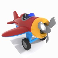 3d aircraft toon model