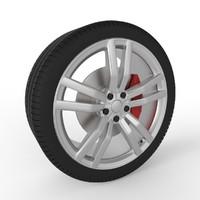 3d model wheel modern car 2016
