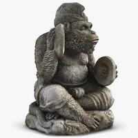 statue monkey cymbals max